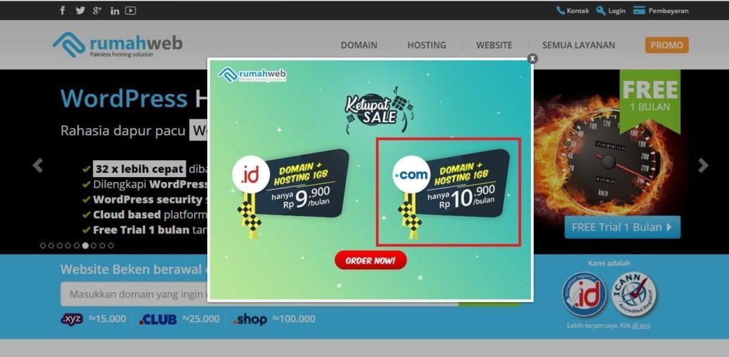 penyedia hosting rumah web