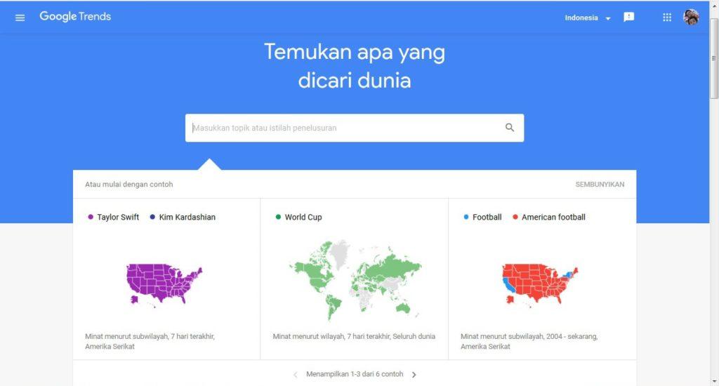 cara menggunakan google trend