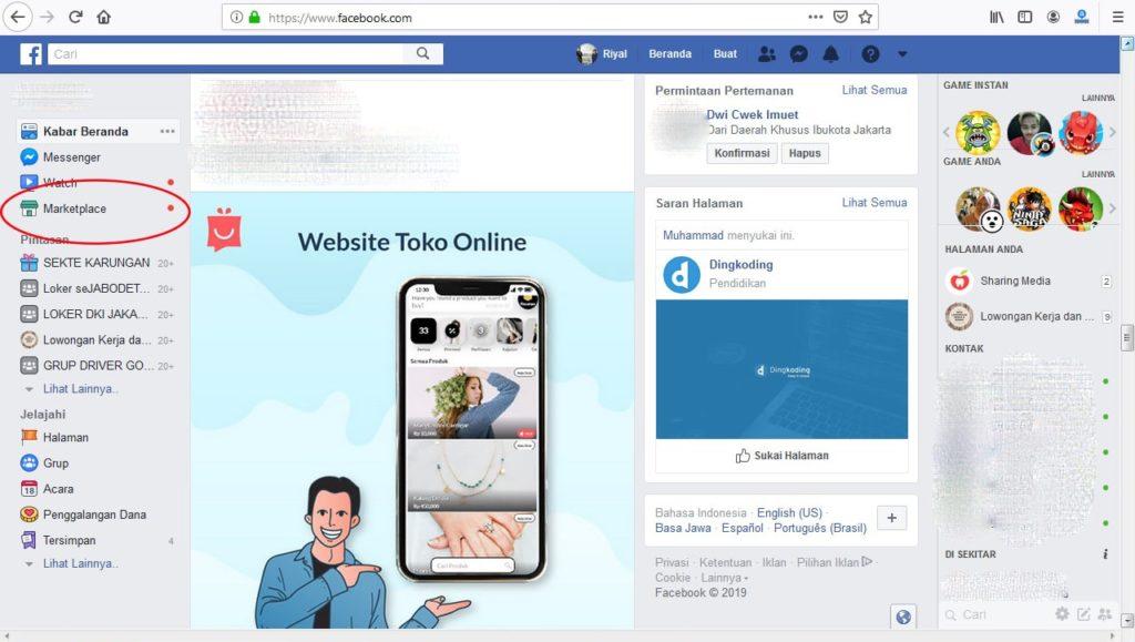 jualan online di marketplace facebook