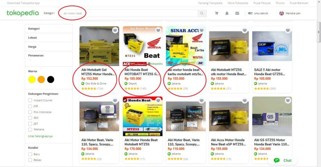 riset kata kunci produk di tokopedia