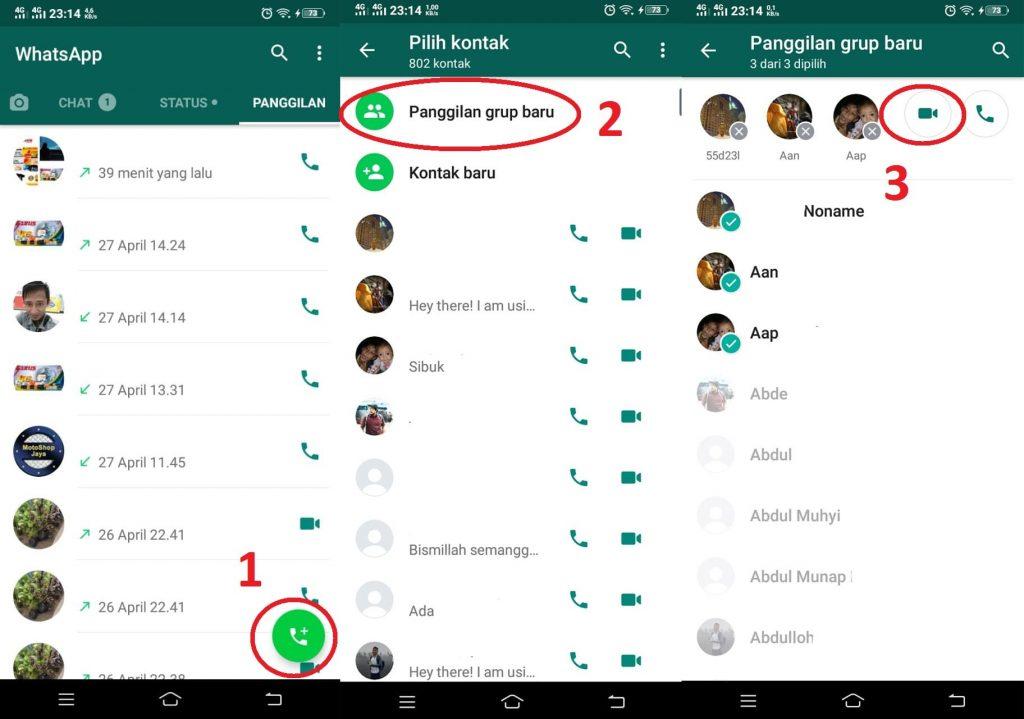 cara video call whatsapp non grup
