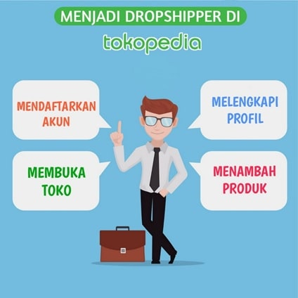 step by step cara jadi dropshipper di tokopedia