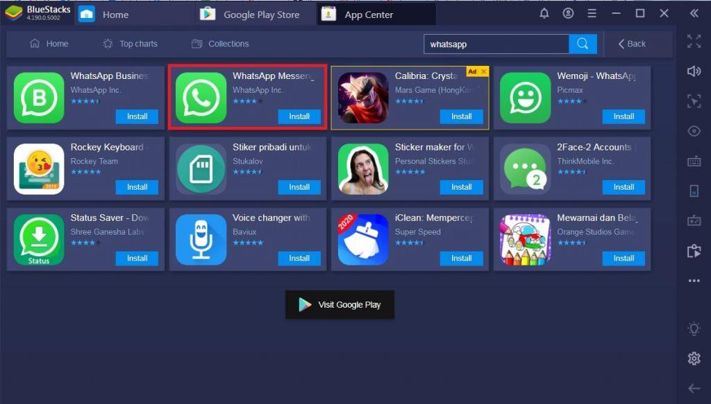 cara menggunakan whatsapp di bluestacks