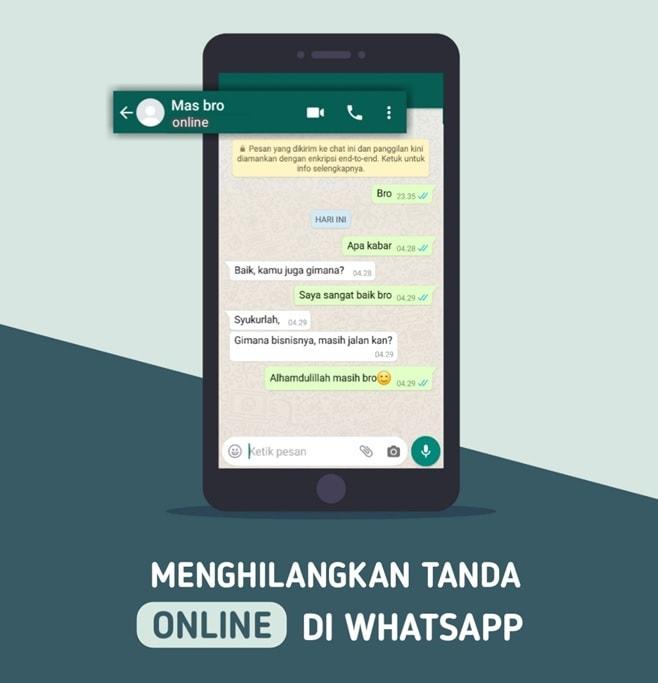 cara menghilangkan tanda online di whatsapp