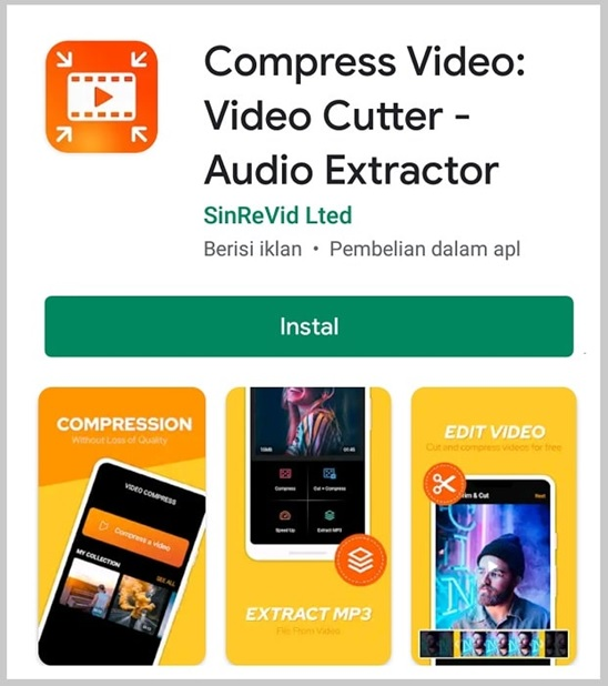 compress video cutter audio extractor