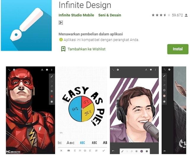 aplikasi infinite design