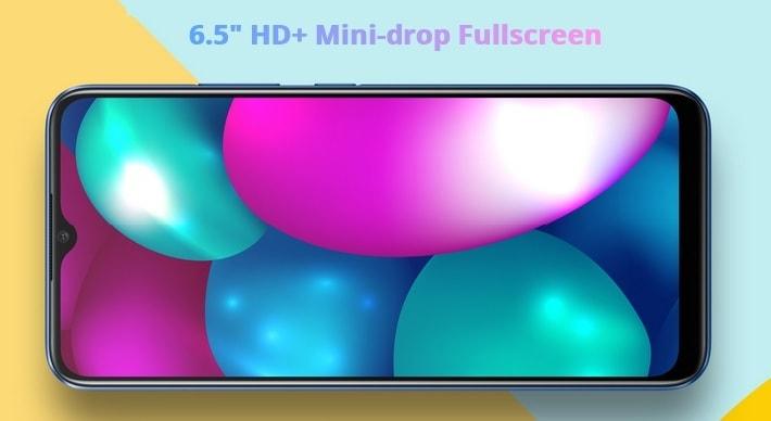 layar HD+ realme 7