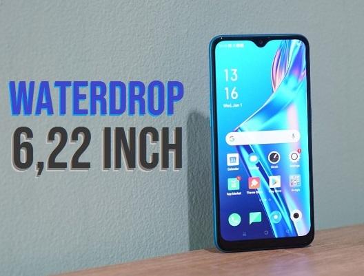 waterdrop 6,22 inch hp oppo a12