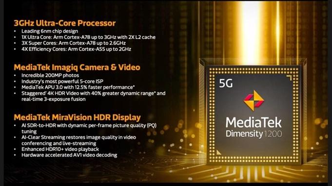 chipset MediaTek Dimensity 1200 redmi k40 gaming